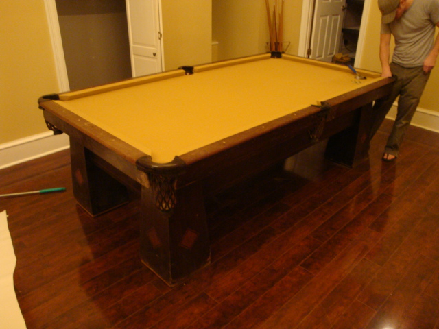 WEM Distributors Before After Of - Brunswick sherwood pool table