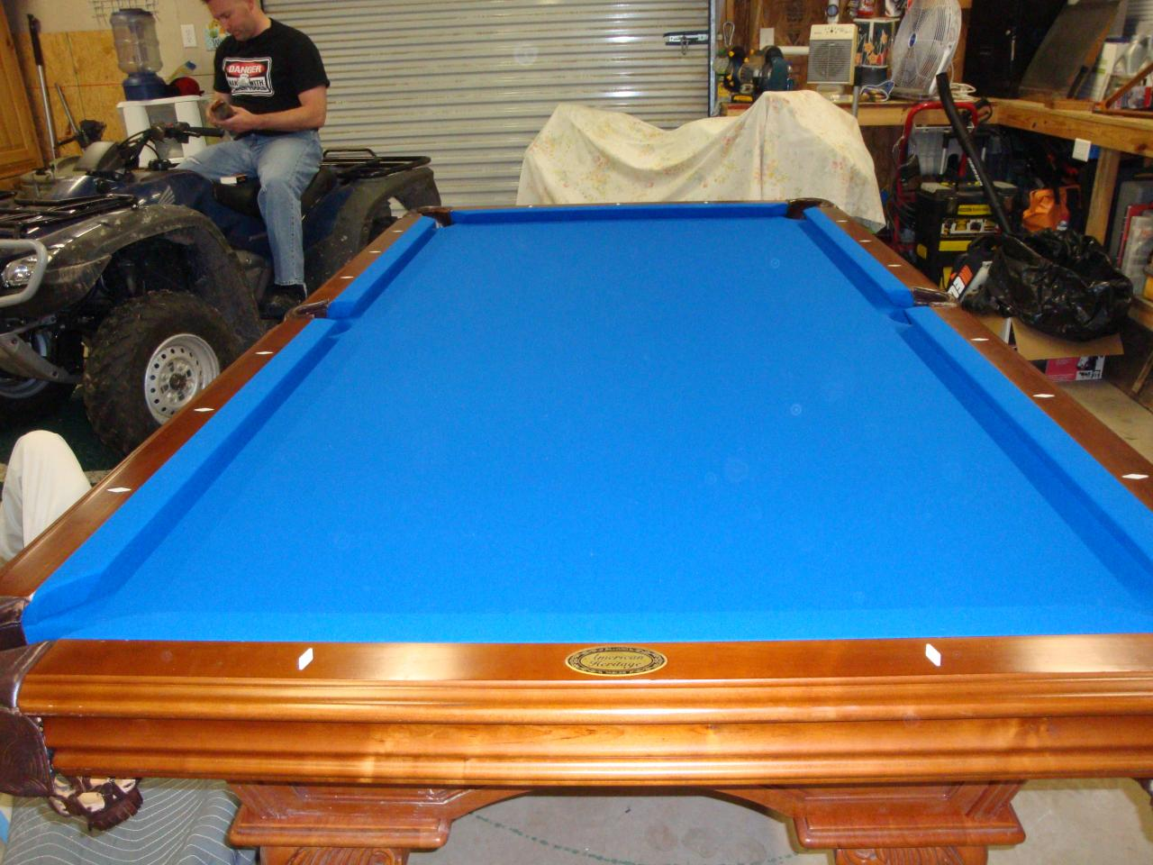 W e m distributors before after 2 of 2 - Pool table green felt ...