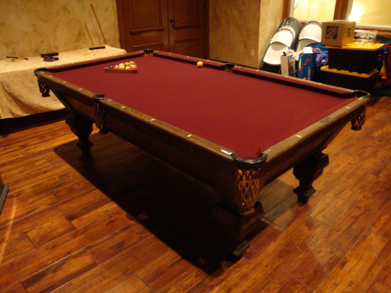 WEM Distributors Before After Of - New brunswick pool table
