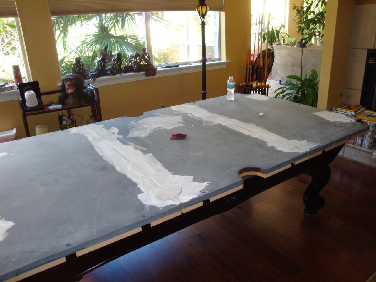 WEM Distributors Before After Of - Brunswick manchester pool table