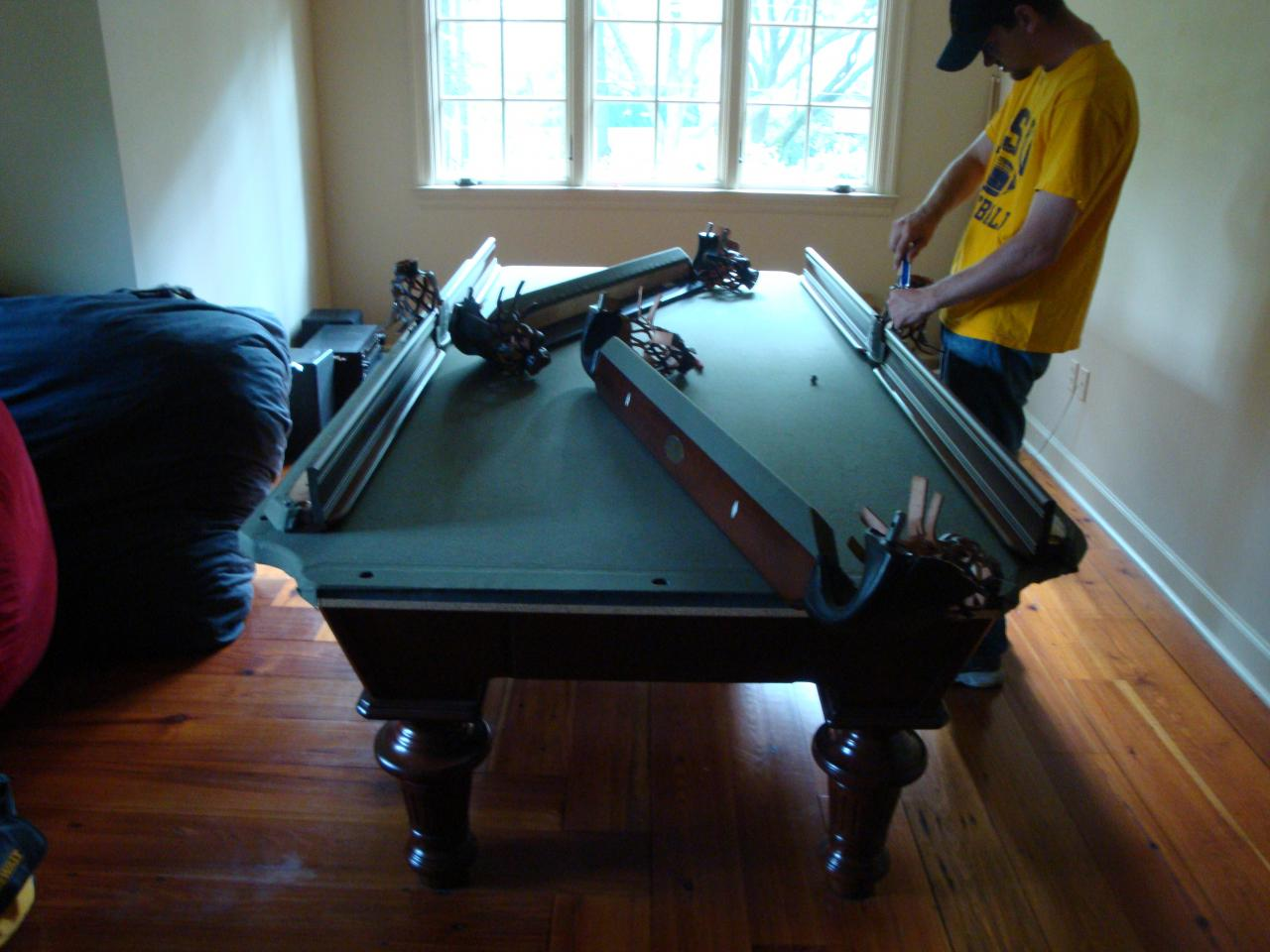 how to move a pool table youtube