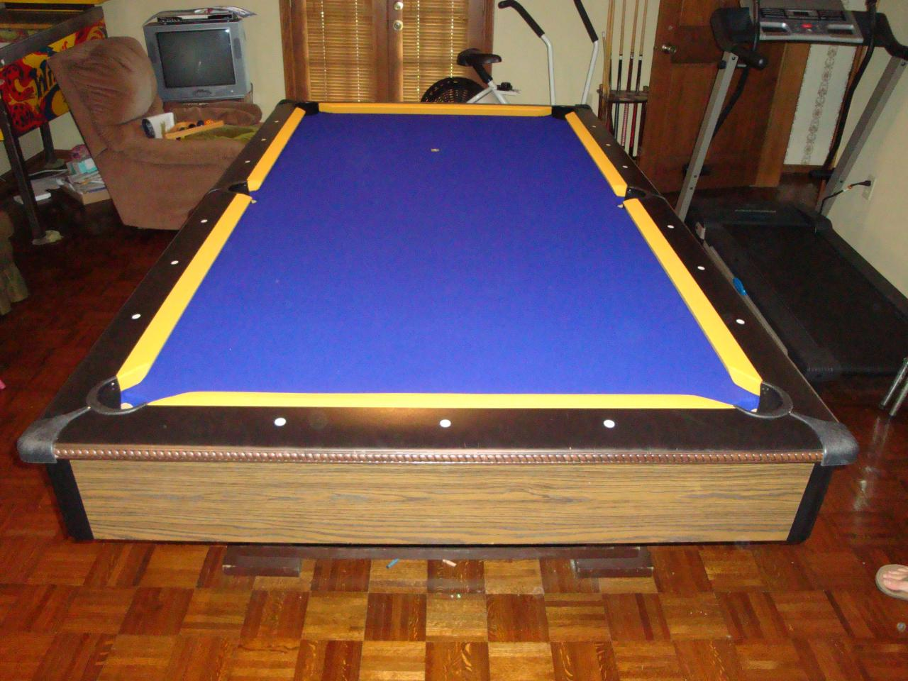 Olhausen Pool Table Prices unknown pool table - AFTER Championshisp gold on purple