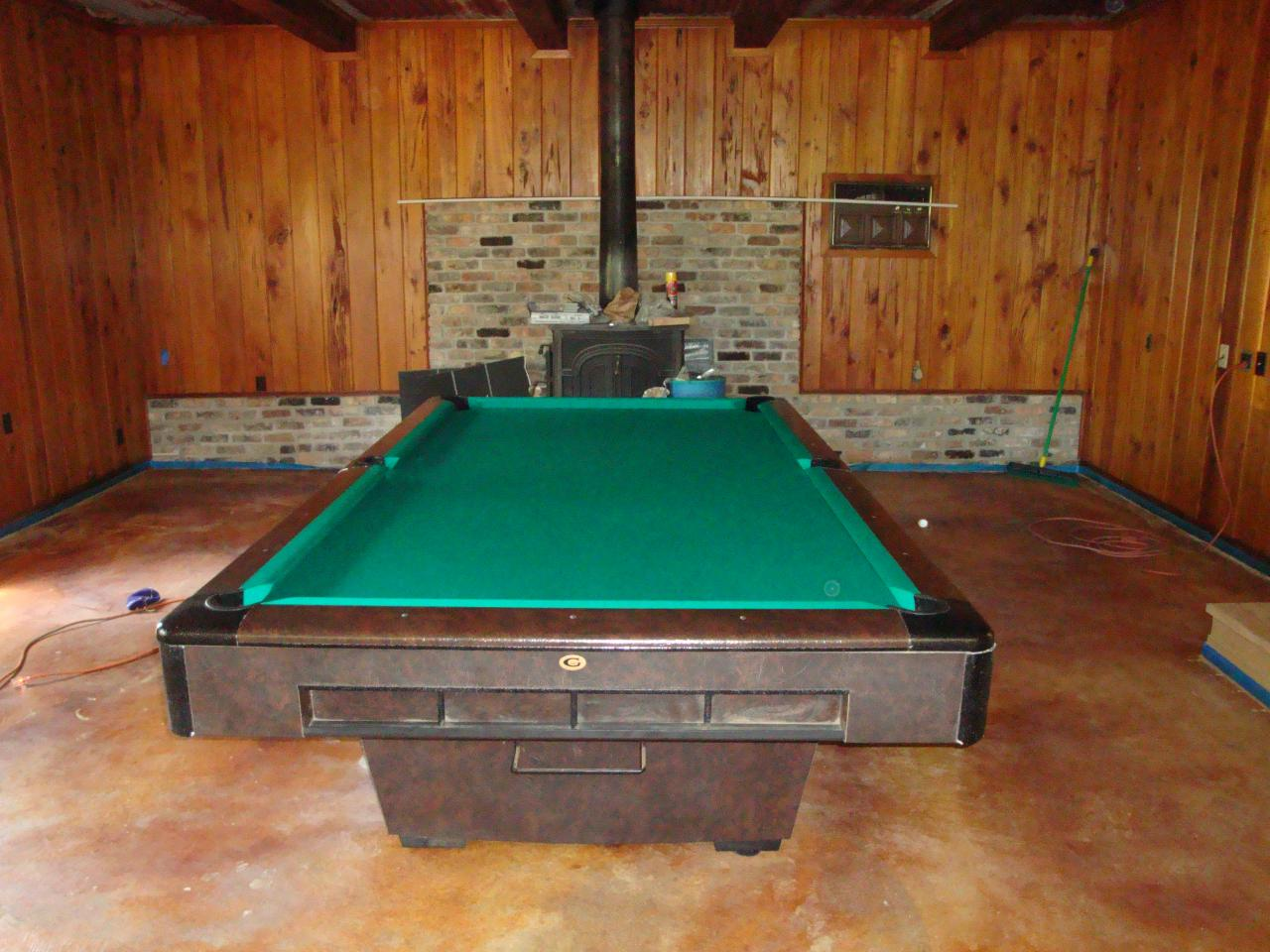 WEM Distributors Before After Of - Gandy pool table